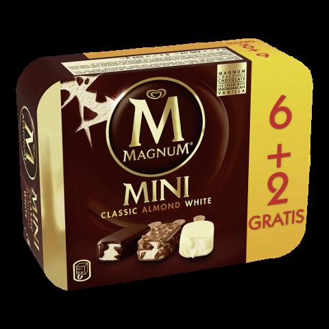Magnum Mini Classic Almond White Eis 8 x 55 ml -
