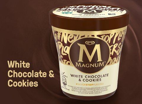 Magnum White Chocolate Cookies 440ml Becher -