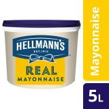 Hellmann's Mayonnaise 79% Fett 5 L - Hellmann's REAL Mayonnaise - Hergestellt aus besten Zutaten.