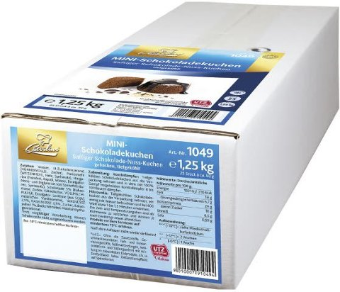 Caterline Mini Schokokuchen 1,25 KG -