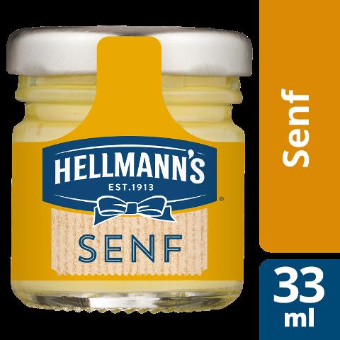 Hellmann's Senf mittelscharf 80x33ml - HELLMANN's Yellow Mustard –mild-würziger Senf nach amerikanischem Vorbild.