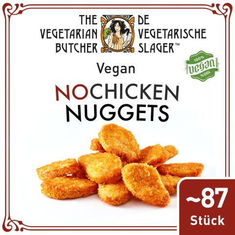 The Vegetarian Butcher - Vegan Nuggets - Vegane Nuggets auf Soja-Basis als Alternative zu Chicken Nuggets 1,75 kg -