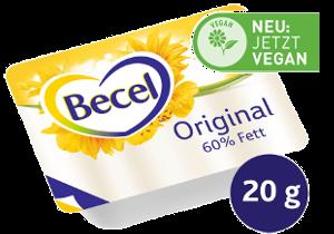Becel Original Fettreduzierte Margarine 60% Fett 120 x 20 g - Deutschlands beliebteste fettreduzierte Margarine. JETZT VEGAN.
