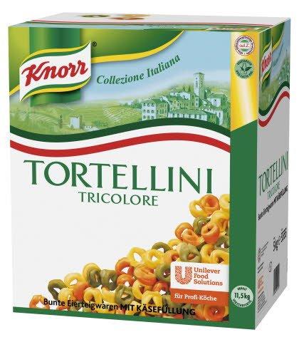 Knorr Pasta Tortellini Tricololore mit Käsefüllung 5 KG -
