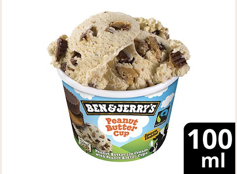 Ben & Jerry's Eis Peanut Butter Cup 100 ml -