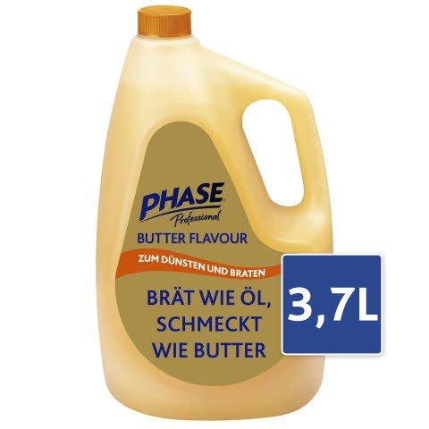 Phase Professional Butter Flavour Flüssige Pflanzenfettzubereitung mit natürlichem Butteraroma 3,7 L