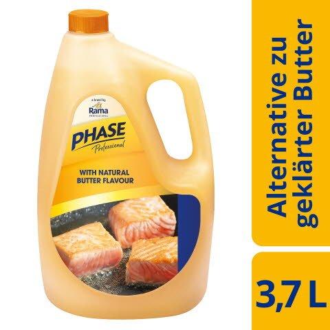 Phase Professional with natural Butterflavour 3,7l, flüssige Pflanzenfettzubereitung mit natürlichem Butteraroma - Jetzt noch besser: Mit langanhaltendem natürlichen Aroma mit Buttergeschmack für noch bessere Ergebnisse