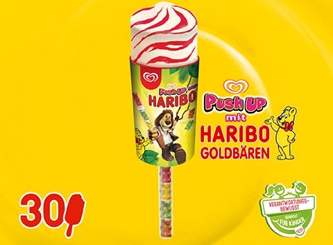 Langnese Haribo Push Up 85ml Eis -