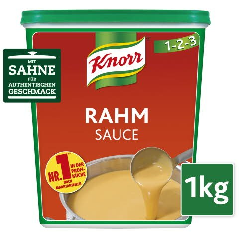 Knorr Rahm Sauce 1 KG - KNORR Rahm Sauce - echte Cremigkeit durch hohen Sahneanteil.