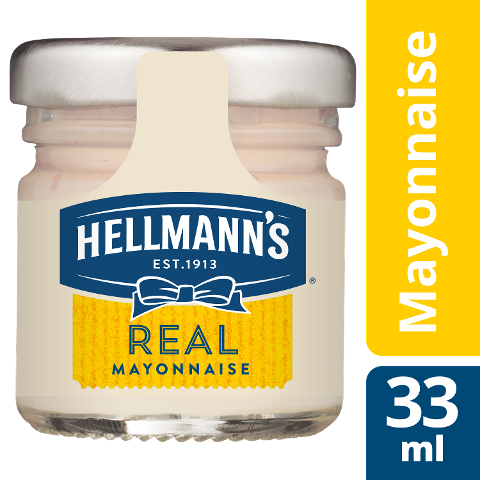 Hellmann's REAL Mayonnaise 80x33ml - Hellmann's REAL Mayonnaise - Hergestellt aus besten Zutaten.