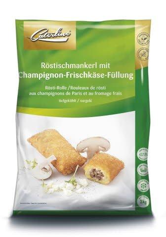 Caterline Röstischmankerl mit Champignon-Frischkäse-Füllung 3 KG (50 Stück à ca. 60 g) -
