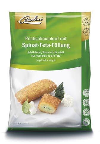 Caterline Röstischmankerl mit Spinat-Feta-Füllung 3 KG (50 Stk. à ca. 60 g) -