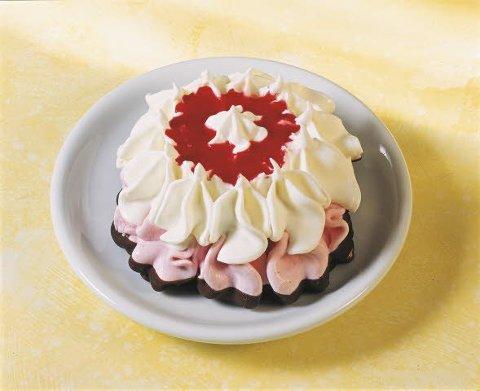 Langnese Fertige Eisdesserts Eistörtchen Erdbeer 18 x 125 ml -
