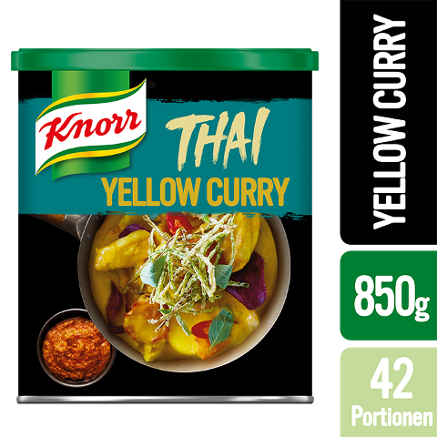 Knorr Thai Yellow Curry Paste 850 g - Authentische Produkte mit Zutaten aus Thailand.