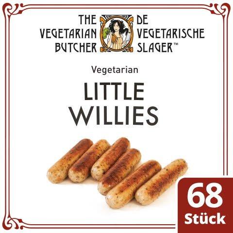 The Vegetarian Butcher - Little Willies - Vegetarische Mini-Bratwürstchen auf Pflanzenprotein-Basis 1,9KG -