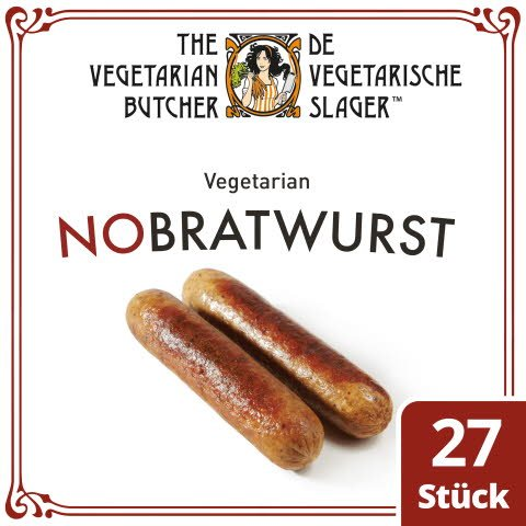 The Vegetarian Butcher - No Bratwurst - Vegetarische Wurst auf Soja-Basis 2,16 kg -