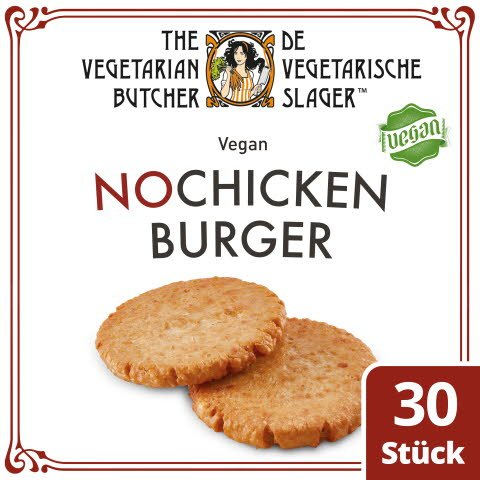 The Vegetarian Butcher - No Chicken Burger - Veganer Burgerpatty auf Soja-Basis 2,4 kg -