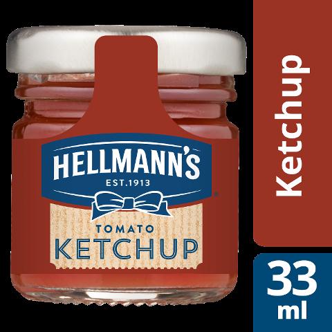 Hellmann's Tomato Ketchup 80x33ml - HELLMANN'S Tomato Ketchup – hergestellt aus nachhaltigangebauten Tomaten.