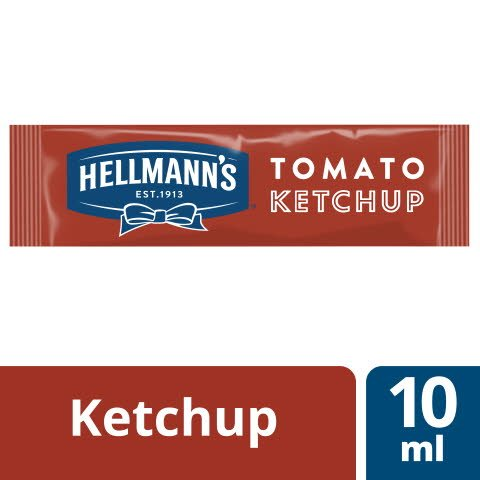 Hellmann's Tomato Ketchup 198x10ml - HELLMANN'S Tomato Ketchup – hergestellt aus nachhaltigangebauten Tomaten.