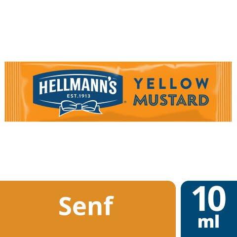 Hellmann's Yellow Mustard 198x10ml - HELLMANN's Yellow Mustard –mild-würziger Senf nach amerikanischem Vorbild.