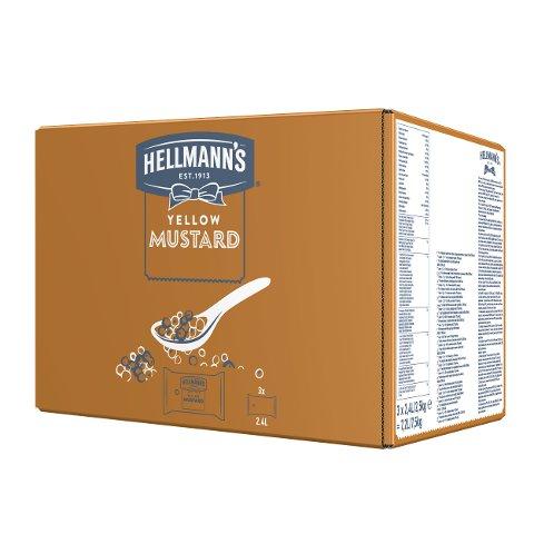 Hellmann's Yellow Mustard - Beutel für Dispenser 3 x 2.5 KG