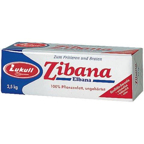 Lukull Zibana Elbana Pflanzenfett 2,5 KG