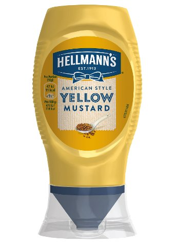 HELLMANN'S American style Yellow mustard 250 ml  bouteille squeezer -