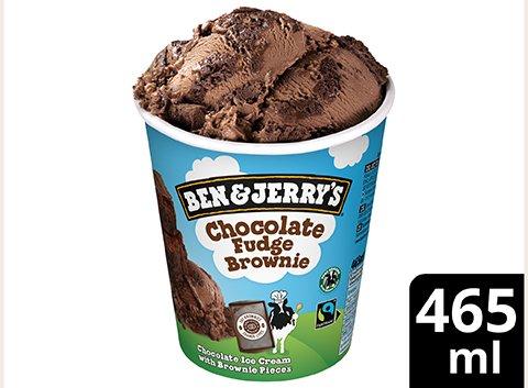 Ben & Jerry's Chocolate Fudge Brownie glace pot 465ml -