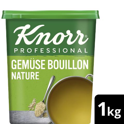 Knorr Professional Bouillon de Légumes Nature 1KG - Knorr Bouillon de légumes Nature – à base de légumes issus de l'agriculture durable pour un goût équilibré.
