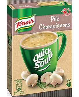 KNORR Quick Soup Champignons 3 x 1 tasse -