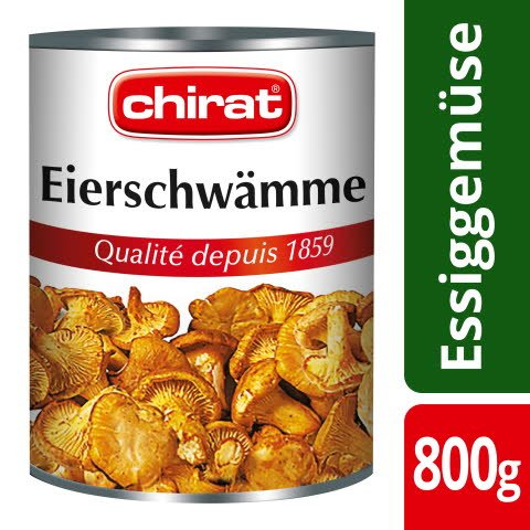 Chirat Chanterelles au naturel 1.5 cm 800g