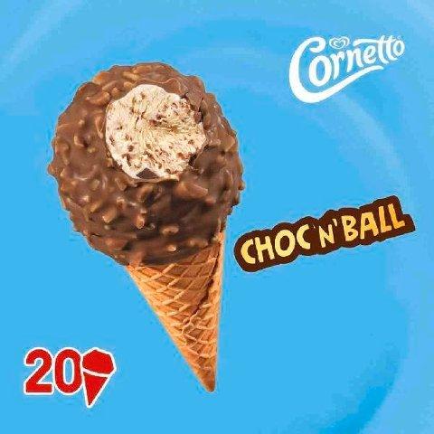 Cornetto Choc'n'Ball Vanille  160 ml -