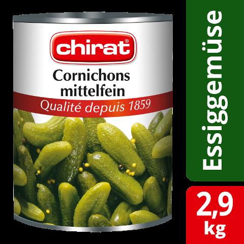 Chirat Cornichons mi-fins 2,9 KG -