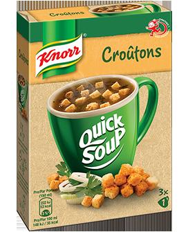 KNORR Quick Soup Croûtons 3 x 1 tasse -