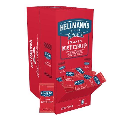 Hellmann's Tomato Ketchup 120 x 20ml en portions -