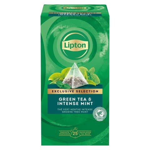 Lipton Thé Vert Menthe Intense Pyramid 25 sachets
