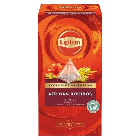 """Lipton Rooibos Infusion Pyramid 25 sachets - """"Notre offre de thécorrespond à l'art devivre d'aujourd'hui."""""""