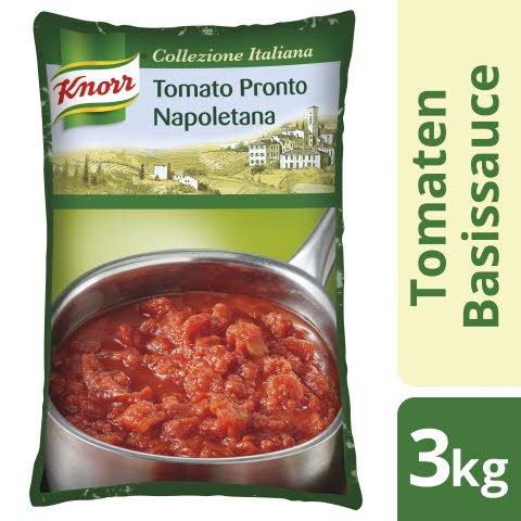 Knorr Collezione Italiana Tomato Pronto Napoletana 3 KG - Elaborée avec des tomates italiennes de première qualité, issues de l'agriculture durable.