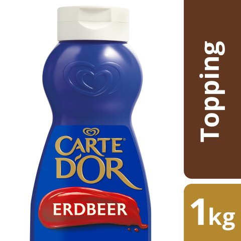 Carte D'or Dessert Topping Fraise 1 KG -