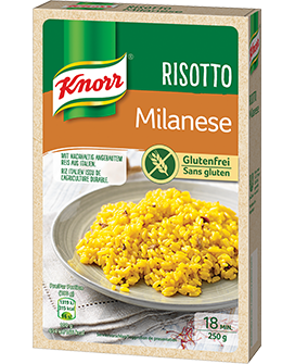 KNORR Risotto Milanese 250 g emballage -