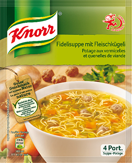 KNORR Potage aux vermicelles et quenelles de viande sachet 4 portions -