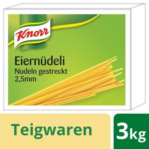 Knorr Eiernüdeli Nouilles droites 2.5 mm 3 KG -