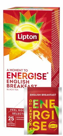 Lipton English Breakfast Thé Noir 25 sachets