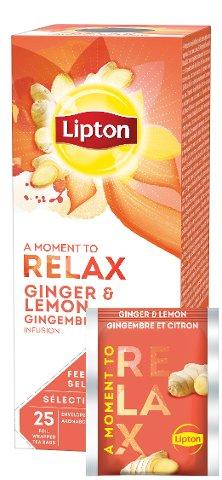Lipton Infusion Gigembre et citron 25 sachets -