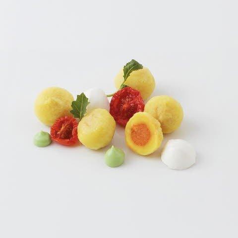 Gnocchi Pomodoro e Mozzarella (Gnocchi farcis à la tomate et mozzarella)  -