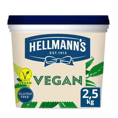 Hellmann's Mayo végétalienne 2,5 KG - Mayonnaise Hellmann's REAL – no 1 dans le monde.