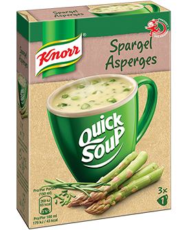 KNORR Quick soup Asperges emballage 3 x 1 portion -