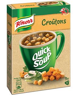 KNORR Quick soup Croûtons emballage 3 x 1 portion -