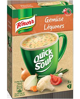 KNORR Quick Soup Velouté aux légumes 3 x 1 tasse