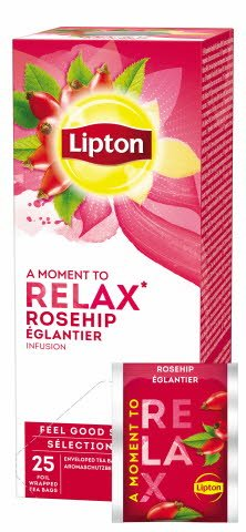 Lipton Églantier Infusion Fruitée 25 sachets -